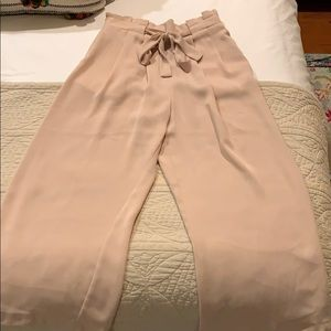 ZARA BASICS light weight pale pink trousers